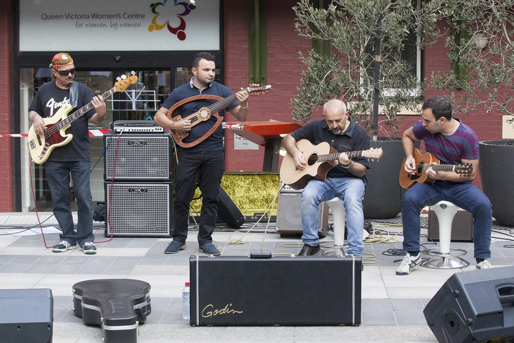four men playing guitars_melbourne photographer_events photography melbourne_art documentation_6